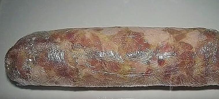 Домашняя колбаса в духовке