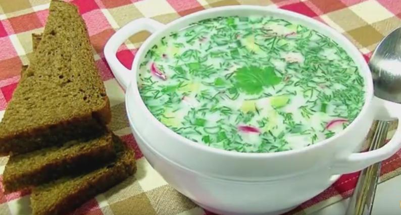 Окрошка на квасе с колбасой рецепт с фото пошагово